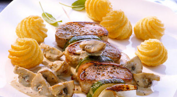Brochettes de filet de porc Duchesses